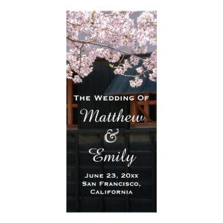 Cherry Blossoms Flowers Wedding Program
