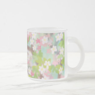Cherry Blossoms Frosted Glass Mug