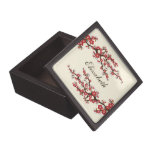 Cherry Blossoms Gift/Trinket Box (cranberry) Premium Trinket Boxes