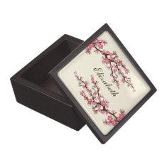Cherry Blossoms Gift/Trinket Box (rose pink) Premium Keepsake Boxes