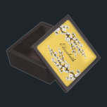 """Cherry Blossoms Gift/Trinket Box (yellow)<br><div class=""""desc"""">Perfect for Bridesmaids gifts! If you need a different color scheme not shown in my shoppe,  feel free to contact through my shoppe,  and I can customize the colors to fit your needs.</div>"""