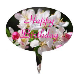 Cherry blossoms Happy Birthday Cake Topper