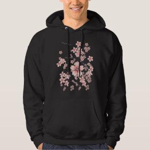 Owls in Blossom Trees Kids Zip Up Hoodie Unisex