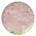 cherry blossoms in the sky party plate