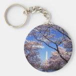 Cherry Blossoms in Washington D.C. Basic Round Button Keychain
