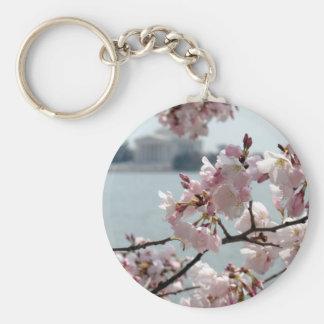 Cherry Blossoms in Washington DC Basic Round Button Keychain