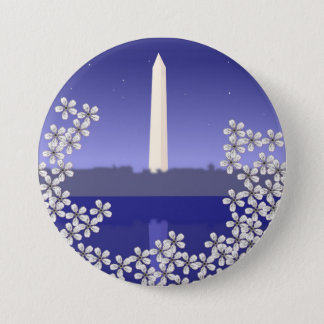 Cherry Blossoms in Washington DC Button