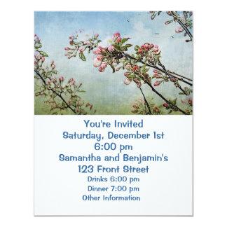 """Cherry Blossoms 4.25"""" X 5.5"""" Invitation Card"""