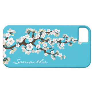 Cherry Blossoms iPhone 5 Case-Mate Case (aqua)