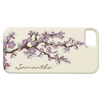 Cherry Blossoms iPhone 5 Case-Mate Case (purple)