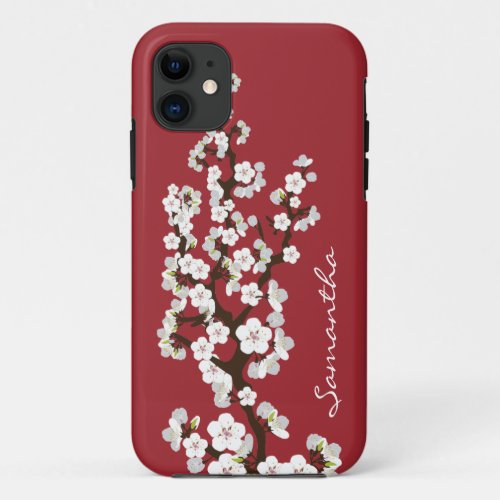 Cherry Blossoms iPhone 5 Case-Mate Case (red) Phone Case