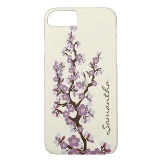 Cherry Blossoms iPhone 7 Case (purple)