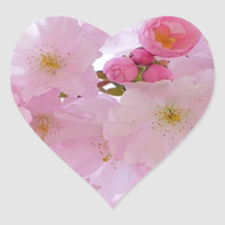 Cherry Blossoms,japanese Heart Sticker