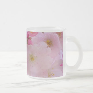 Cherry Blossoms,japanese 10 Oz Frosted Glass Coffee Mug