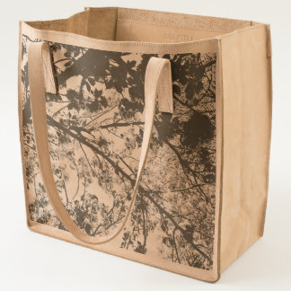 Cherry Blossoms Leather Tote Bag
