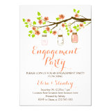 Cherry blossoms mason jar wedding engagement party 5