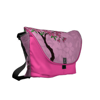 Cherry Blossoms Courier Bags