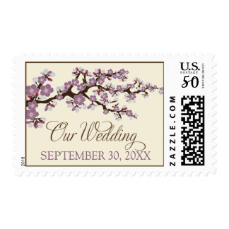 """Cherry Blossoms """"Our Wedding"""" Stamp (purple)"""