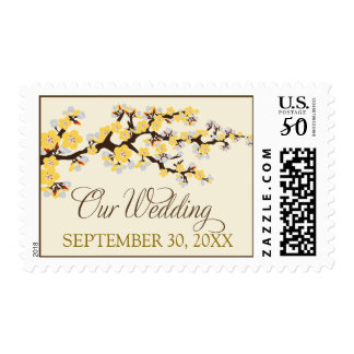 """Cherry Blossoms """"Our Wedding"""" Stamp (yellow)"""