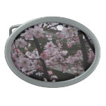 Cherry Blossoms Oval Belt Buckle