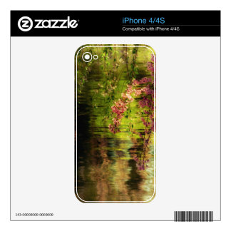 Cherry Blossoms Over A Pond iPhone 4 Skins
