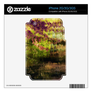 Cherry Blossoms Over A Pond Decal For The iPhone 2G