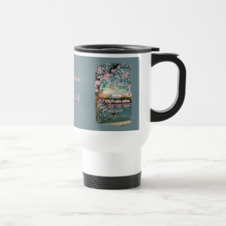 Cherry Blossoms Painted Coffee Mug