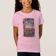 Cherry Blossoms Painted Kid's Shirt
