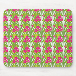 Cherry Blossoms Pattern Mouse Pads