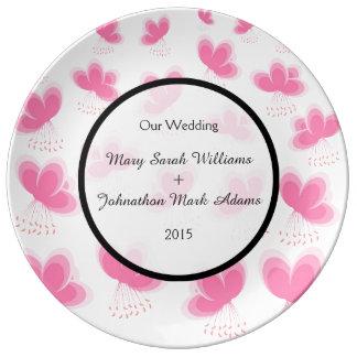 Cherry Blossoms Pattern Wedding Favor Dinner Plate