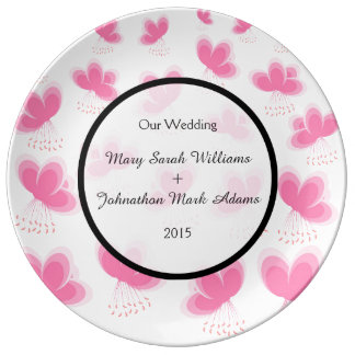 Cherry Blossoms Pattern Wedding Favor Porcelain Plate