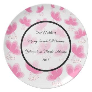 Cherry Blossoms Pattern Wedding Favor Plate