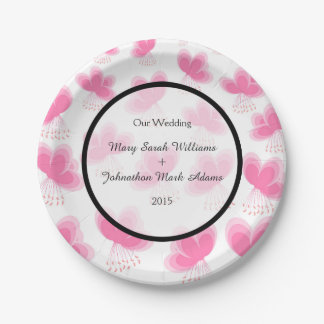 Cherry Blossoms Pattern Wedding Favor 7 Inch Paper Plate