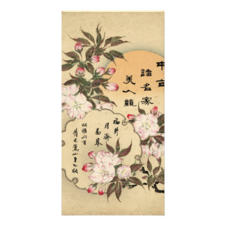 Cherry blossoms custom photo card