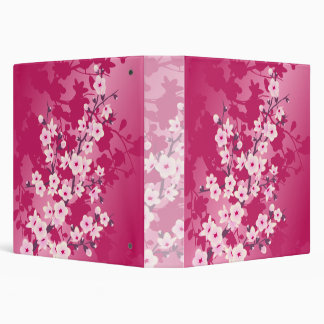 Cherry Blossoms Pink Berry Floral Binder