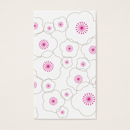 CHERRY BLOSSOMS PINK/BROWN Business Card