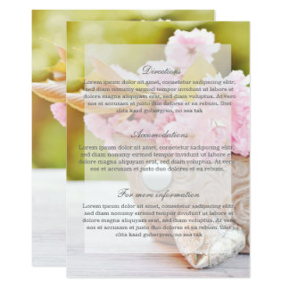 Cherry Blossoms-Pink Flowers Wedding Card