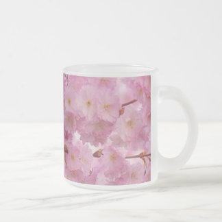 Cherry Blossoms,pink 10 Oz Frosted Glass Coffee Mug