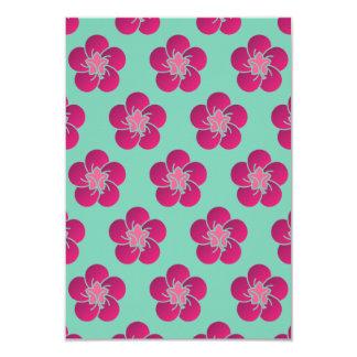 Cherry Blossoms Pink Pattern Sakura Card