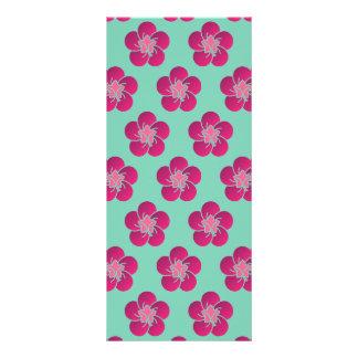 Cherry Blossoms Pink Pattern Sakura Rack Card