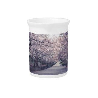 Cherry Blossoms Beverage Pitcher