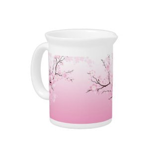 Cherry Blossoms Beverage Pitchers
