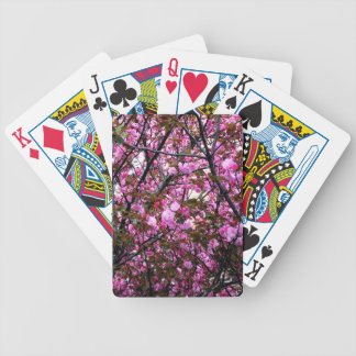 Cherry Blossoms Bicycle Playing Cards