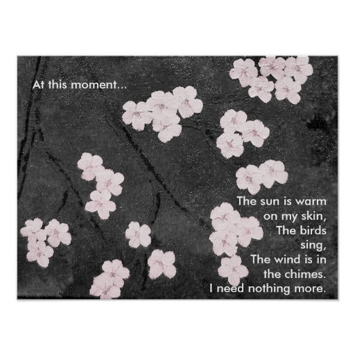 Cherry Blossoms Print with Poem