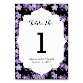 Cherry Blossoms Purple Sakura Table Card
