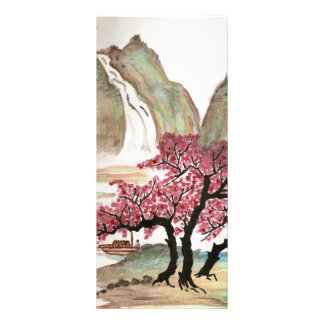 Cherry Blossoms Customized Rack Card