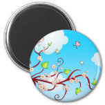 Cherry Blossoms Refrigerator Magnets