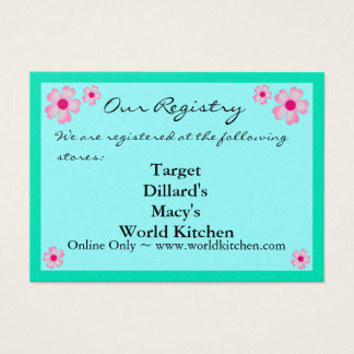 CHERRY BLOSSOMS Registry/RSVP Cards