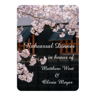 Cherry Blossoms Rehearsal Dinner Invitations