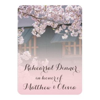 "Cherry Blossoms Rehearsal Dinner Invitations 4.5"" X 6.25"" Invitation Card"